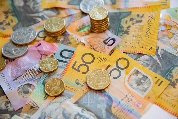 Australian money - dollars and coins