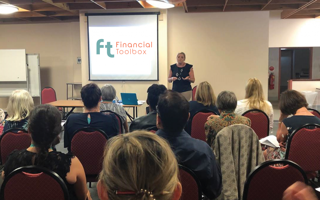 Gillian presenting at a Financial Toolbox workshop